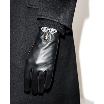 Gants en cuir A details bijoux